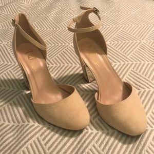 Lulus Blush Block Heels